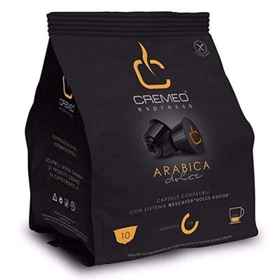 Capsule caffè Cremeo Arabica compatibili Dolce Gusto