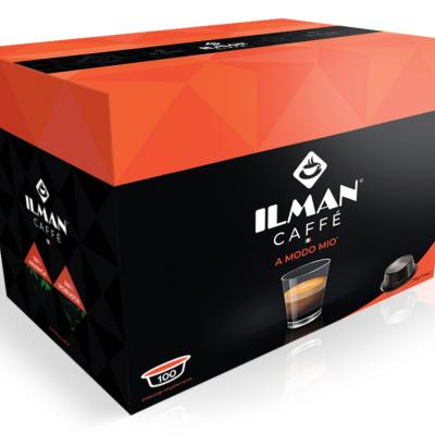 100 Capsule Caffè ILMAN Compatibili Sistema Lavazza A Modo Mio