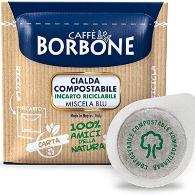 150 Cialde caffè Borbone miscela Blu ESE 44 mm Filtro Carta