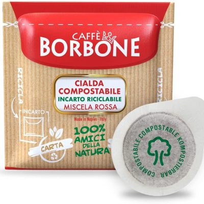 150 Cialde caffè Borbone miscela Rossa ESE 44 mm Filtro Carta